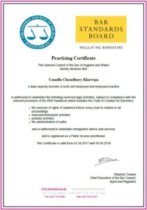 Practising Certificate
